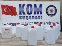 Kuşadası'nda 50 litre etil alkol yakalandı
