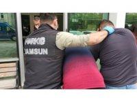 Samsun'da uyuşturucu operasyonunda 3 tutuklama
