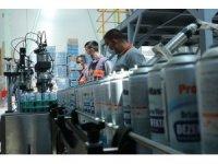 Kocaeli'de üretilen alkolsüz dezenfektan 6 ülkeye ihraç ediliyor
