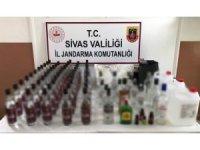 Sivas'ta gümrük kaçağı içki ile esrar ele geçirildi