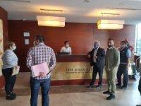 Kars'ta açık olan oteller denetlendi