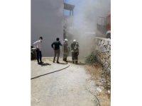 Bodrum'da ev yangını