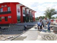 Vedat Çimen Tesislerinde peyzaj ve çevre düzenlemesi çalışmaları yapılıyor