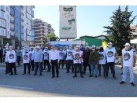 Rize'de sendika üyesi oldukları için işe çağrılmadıklarını iddia eden 11 çay fabrikası işçisinin hak arama mücadelesi sürüyor