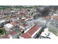 Bursa''da korku dolu anlar...4 katlı bina yangın sebebiyle boşaltıldı