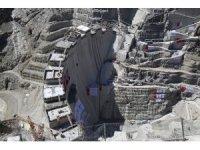 Yusufeli Barajı'nın 3 milyonuncu metreküp betonu bugün döküldü