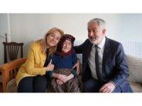 105 yaşında ilk kez bir belediye başkanını misafir etti
