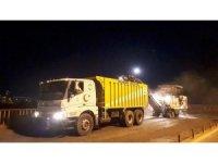Kocasinan'da yenilenen Ihlamur Köprüsü için 24 saat çalışma