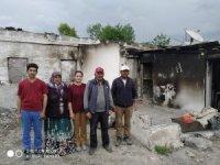 Evi yanan aileye ilk destek devletten