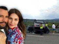 Şarkıcı Alişan eşi Buse Varol ve çocuklarının içinde bulunduğu araç takla attı