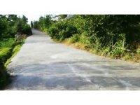 Yaşlı kadın yeni dökülen beton yolu kullanılamaz hale getirdi
