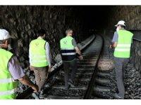Demiryolu tünellerinde kot düşürme çalışmaları başladı