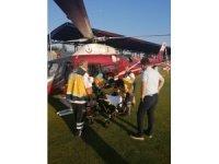 Karın zarı ameliyatı geçiren hasta ambulansla Düzce'ye geldi