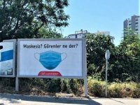 Mersin'de koronaya afişli uyarı