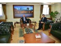 Belediye Başkanı Demir ve Oda Başkanları, Vali Hüseyin Öner'e hayırlı olsun ziyaretinde bulundu