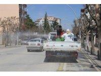 Karaman Belediyesinin dezenfekte çalışmaları gece-gündüz devam ediyor