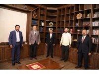 RTÜK Başkanı Şahin ve BİK Genel Müdürü Duran, Başkan Arı'yı ziyaret etti