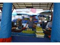Korona virüsten dolayı kapatılan pazarlar yeniden açıldı