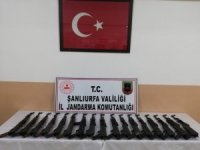 Suriye sınırında 17 adet uzun namlulu silah ele geçirildi