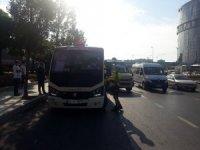 Yenibosna'da fazla yolcu taşıyan sürücüye para cezası kesildi
