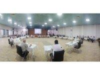 Simav'da sosyal mesafeli meclis toplantısı