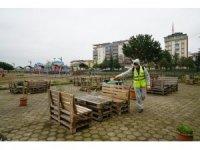 Terme Belediyesi tedbiri elden bırakmıyor