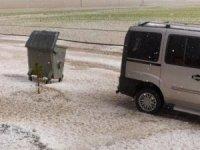Yozgat'ta dolu yağışı ekili alanlara zarar verdi