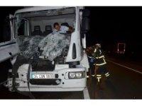 Tekirdağ'da kamyon tıra arkadan çarptı: 1 yaralı