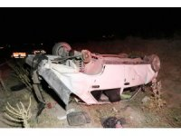 Takla atan otomobil hurdaya döndü: 1 ölü, 2 yaralı
