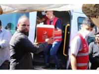Çadırlarda yaşayan Suriyelilere korona hijyen paketi