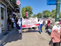 Ağrılı Beyaz tülbentli kadınlar Ayasofya'da