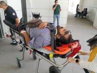 Bisiklet ile motosiklet çarpıştı: 2 yaralı