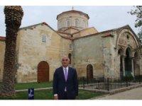 Kültür ve Turizm Bakanı Mehmet Nuri Ersoy Trabzon'da Ayasofya-i Sağir Camii Şerifi'nde incelemelerde bulundu