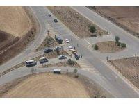 Bayram tatilinin son gününde Afyonkarahisar'da havadan trafik denetimi yapıldı