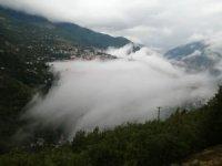 Artvin'de  etkili olan sis görsel şölen oluşturdu