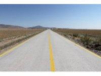Altıntaş'ta köy yollarına ilk kez beton asfalt