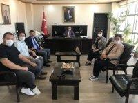 Burhaniye'de Kaymakam Memiş'e siyasetçi ziyareti
