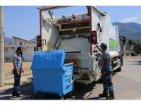 Pamukkale'de bayram sonrası temizlik ve dezenfekte çalışmaları sürüyor