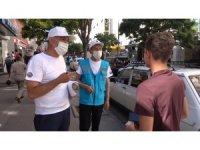 Pilot il Kırıkkale'de 'maske ve sosyal mesafe' denetimi yapıldı