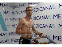 Hakan Arslan, sağlık kontrolünden geçti