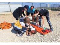 Kula'da motosiklet kazası: 1 yaralı