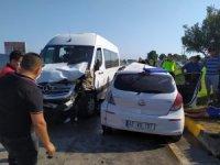Dalaman'da minibüsle otomobil çarpıştı; 1 ölü