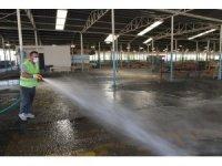 Çiğli pazaryerlerinde detaylı temizlik ve dezenfekte
