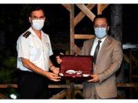 İl Jandarma Komutanı Albay Ağaoğlu ve Defterdar Şahin'e veda yemeği