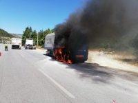 Samsun'da tır yangını