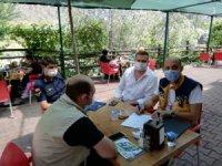Osmaneli'nde maske ve sosyal mesafe kurallarına sıkı denetim