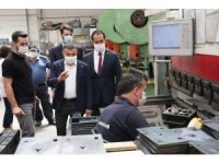 Vali Atay, Gümüşova OSB'de fabrikaları ziyaret etti