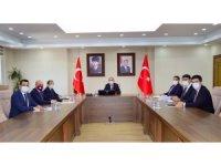 Vali Hüseyin Öner başkanlığında, Ağustos ayı kaymakamlar toplantısı yapıldı