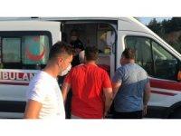 Yaralanan oğlunu ambulansta gören baba telaşa kapıldı