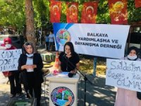 Balkaya Yardımlaşma ve Dayanışma Derneği kadına şiddete 'Dur' dedi